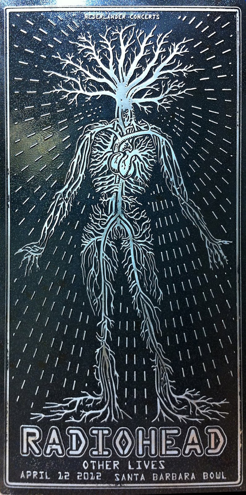 EMEK  |  Radiohead   Embossed Aluminium | Edition: 50 | 12 x 24 | Signed and Numbered