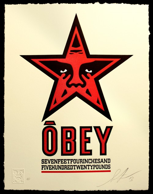 SHEPARD FAIREY  |  Star Icon   Letterpress | Edition: 400 | 10 x 13 | Signed and Numbered