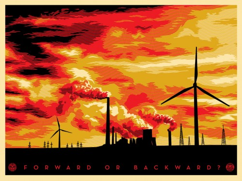 SHEPARD FAIREY  |  The Last Mountain   Silkscreen | Edition: 450 | 18 x 24 | Signed and Numbered