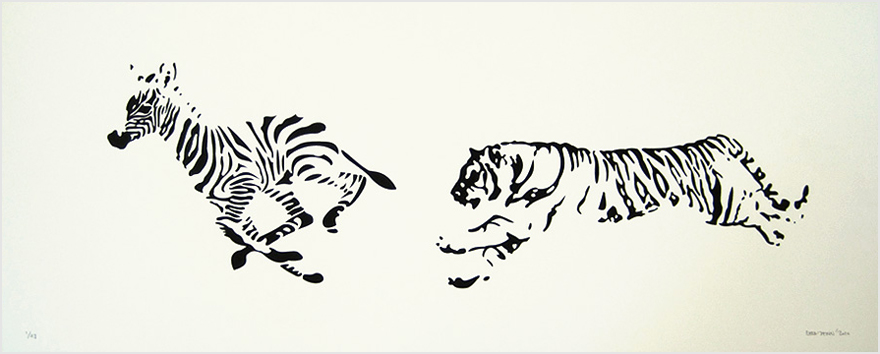 RAFA JENN | Hypothetical Speaking   Silkscreen | Edition: 48 | 30 x 12 | Signed and Numbered