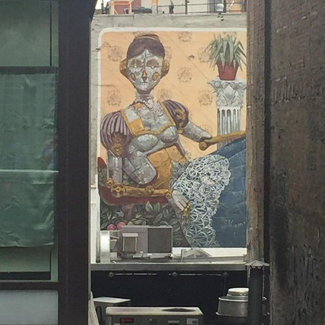@pixelpancho spotted from #thehighline #nyc #streetart #art