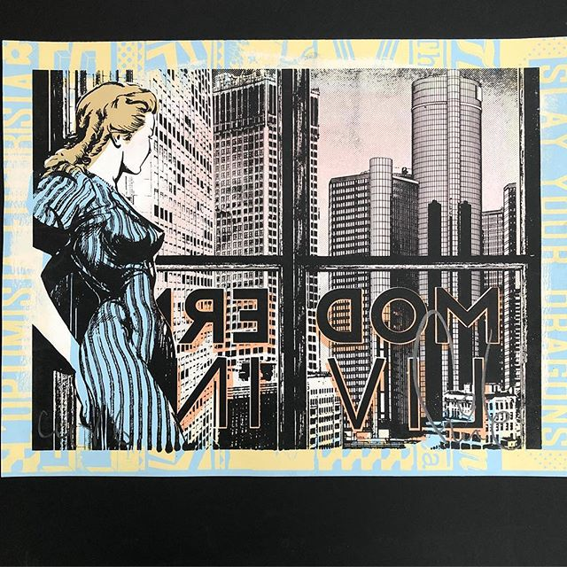 Been a while since I've posted some #art. Here's 'Modern Living' from @faileart  Screenprint and acrylic, edition of 250. #faile #art #nyc
