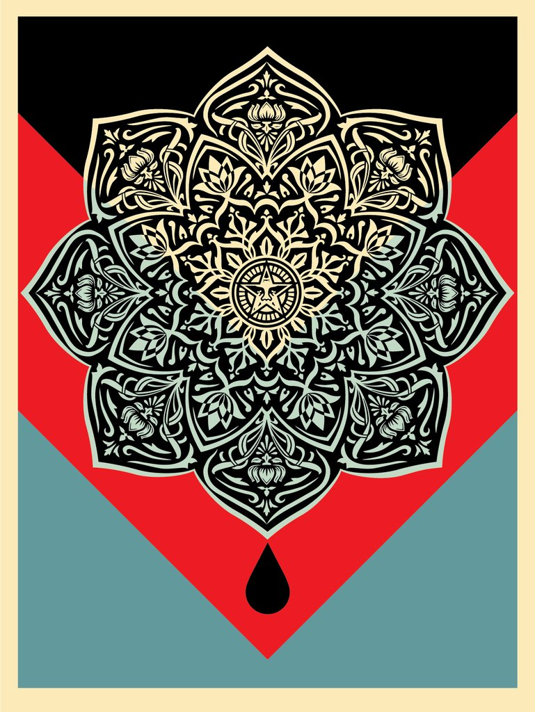 Shepard Fairey - Blood and Oil Mandala 2.jpg