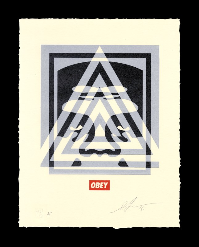 Shepard Fairey - Pyramid Top Icon Letterpress.jpg