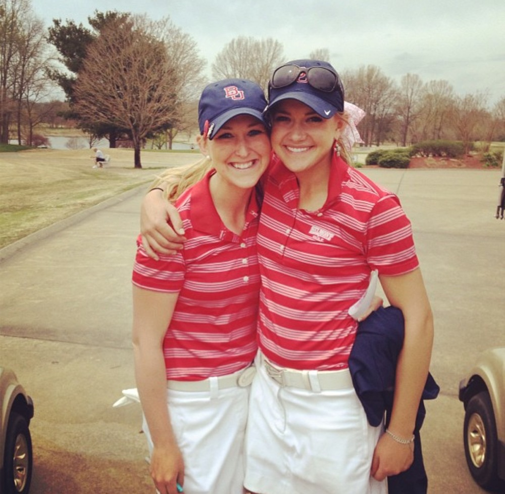 Shay and me after a tournament round playing for Belmont University.