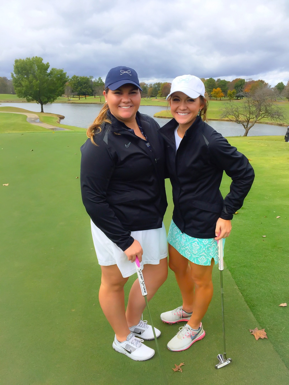 My teammate Evin and I at a scramble at The Hermitage Golf Course.