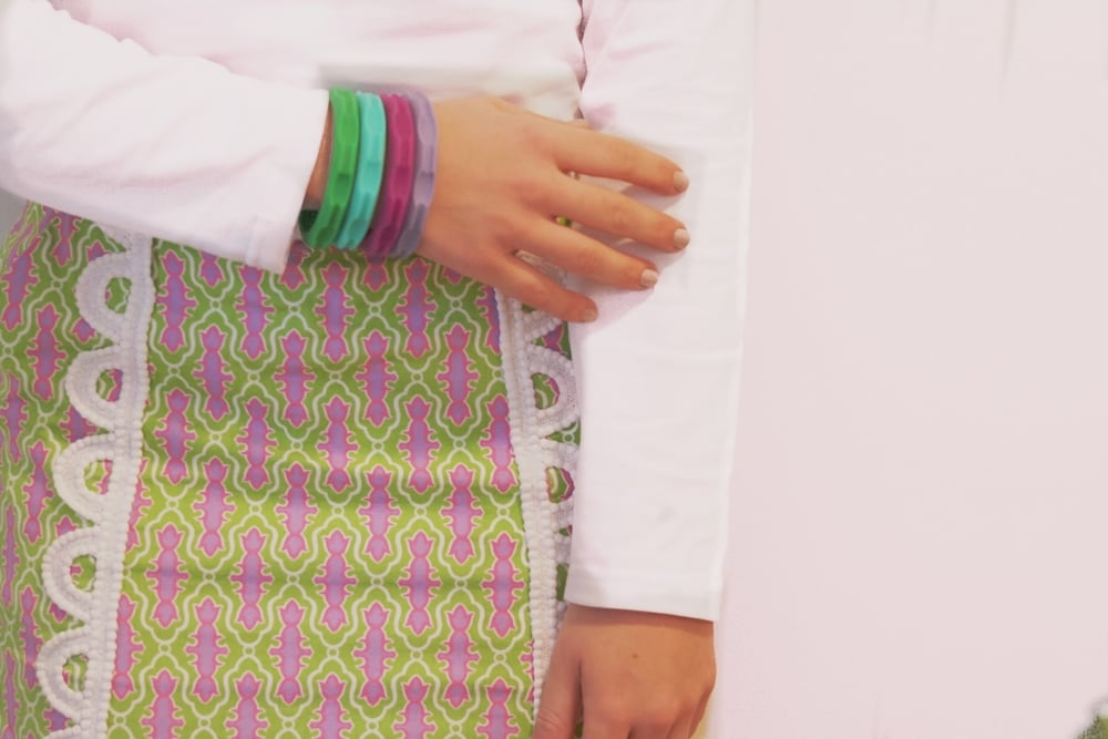 Kelly Green, Turquoise, Orchid Pink, and Light Purple were pretty spot on with my Berkeley Skort if you ask me!