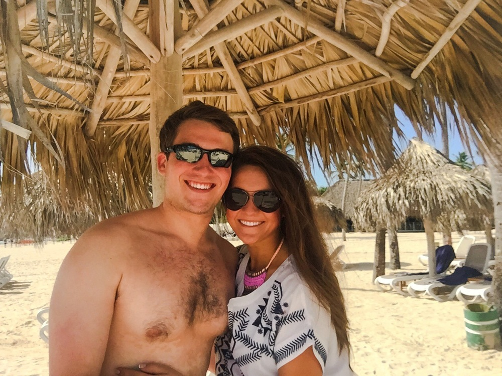 Our first day in Punta Cana with my husband!