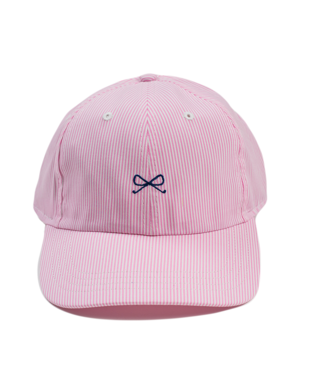 SE Hat in White/Pink with navy logo