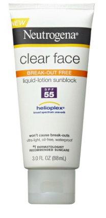 Neutrogena Clear Face Break-Out Free Sunscreen // $8