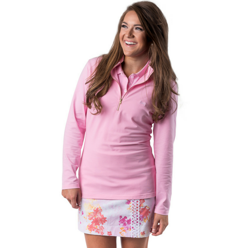 Pictured: The Skylar Popover in Pink with the Emma Skort