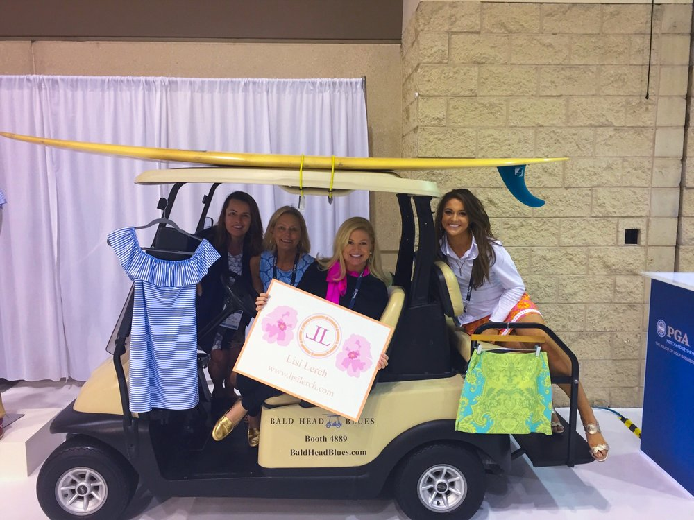 At the PGA Merchandise Show with Lisi Lerch, and the owners of Sailor Sailor.