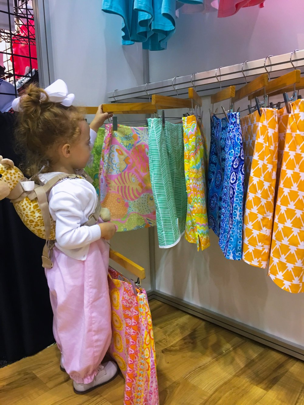 Claire Elizabeth shopping in the Sydney Elizabeth booth, 2017.
