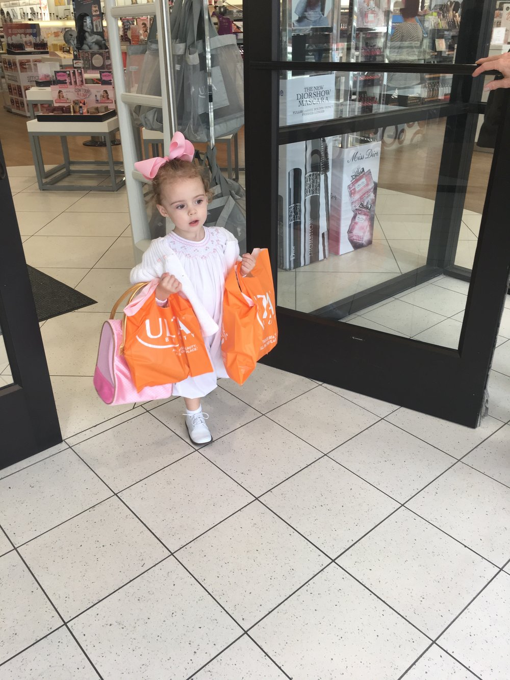 Shoppin' til she's droppin'!