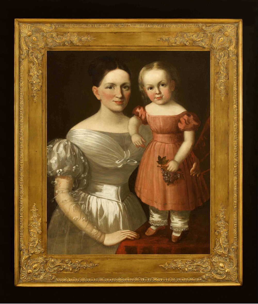 Juliette Magill Kinzie with her daughter, Eleanor (Nellie) Lytle Kinzie, who would later become the mother of Juliette Gordon Low, founder of the Girl Scouts of the USA. Courtesy of the GS-USA