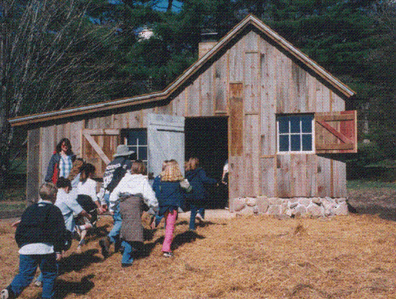 The Children's Shack  -- child-scaled replica of Aldo Leopold's famous Shack reflects the land ethic and is the center of educational programming.