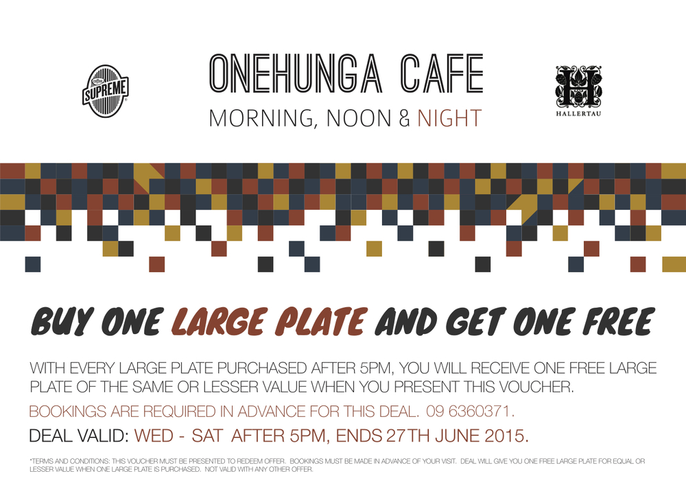Onehunga June Promotion