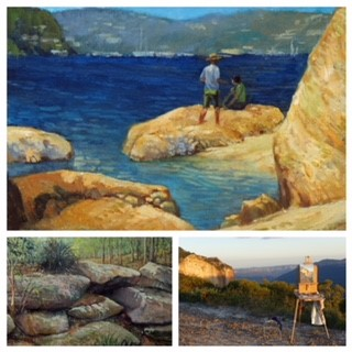Plein air oil painting in Northbridge.jpg