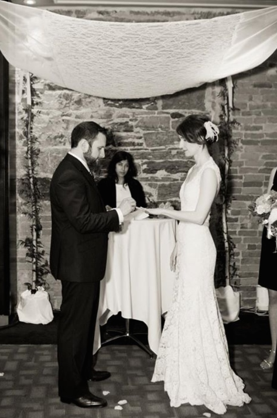Lace and Silk Heirloom Chuppah
