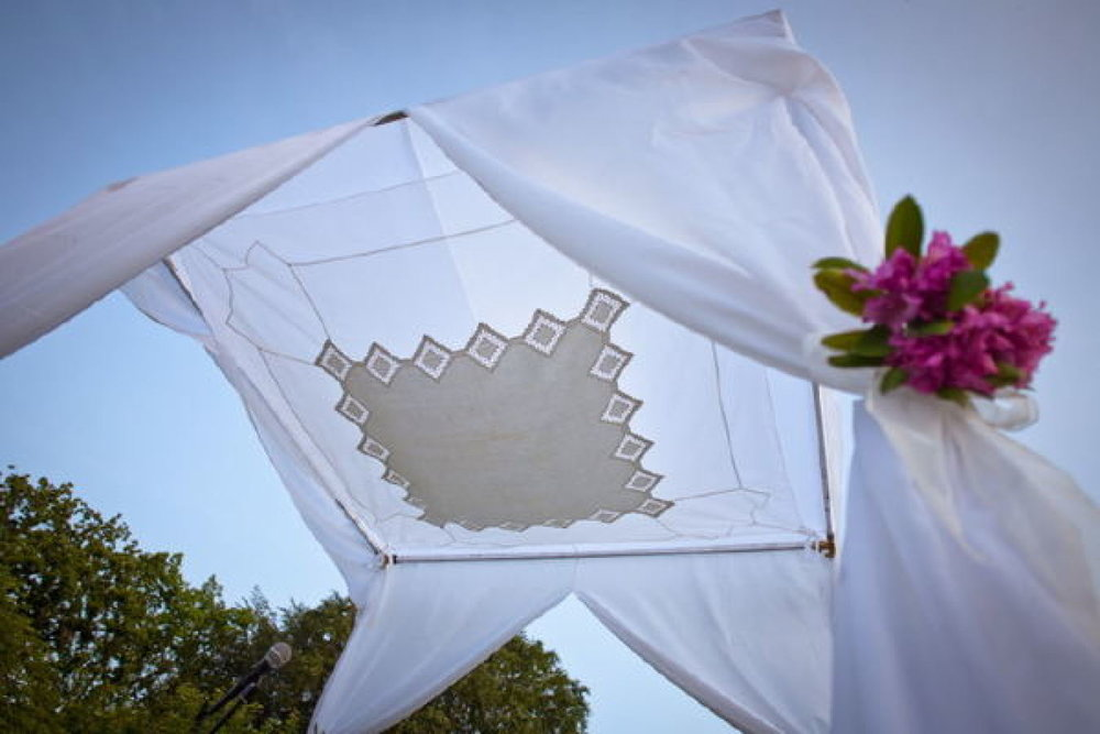 Organza and Tablecloth chuppah.jpg