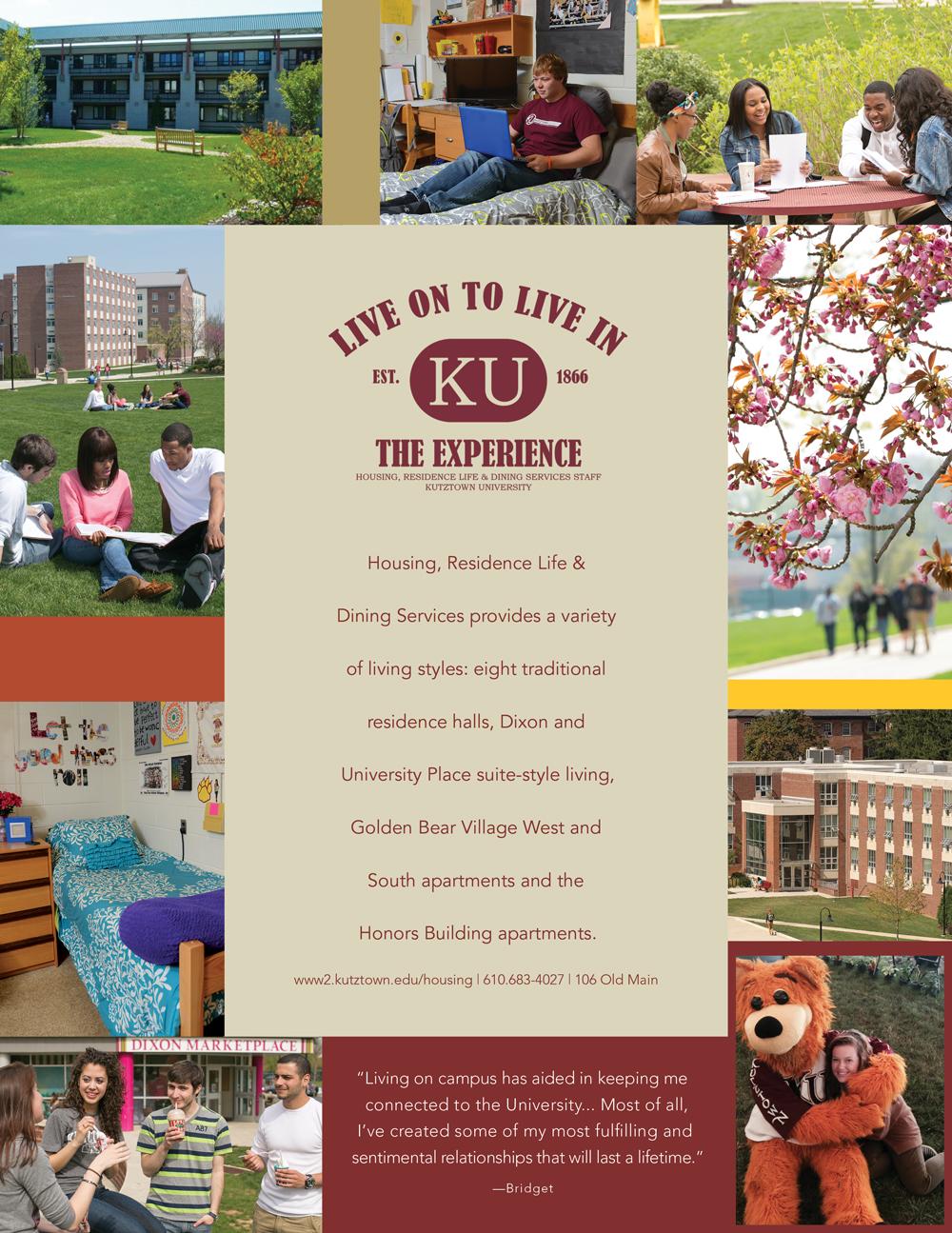 Kutztown University Housing Information Sheet