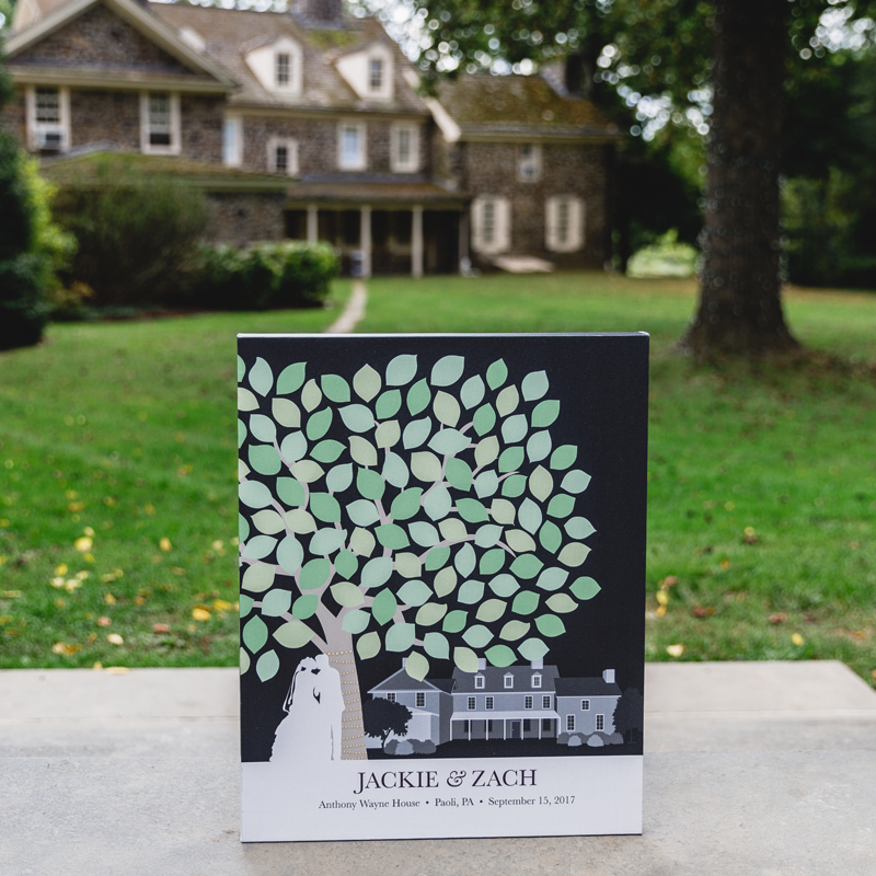 Illustrated Guest Book Matching Venue