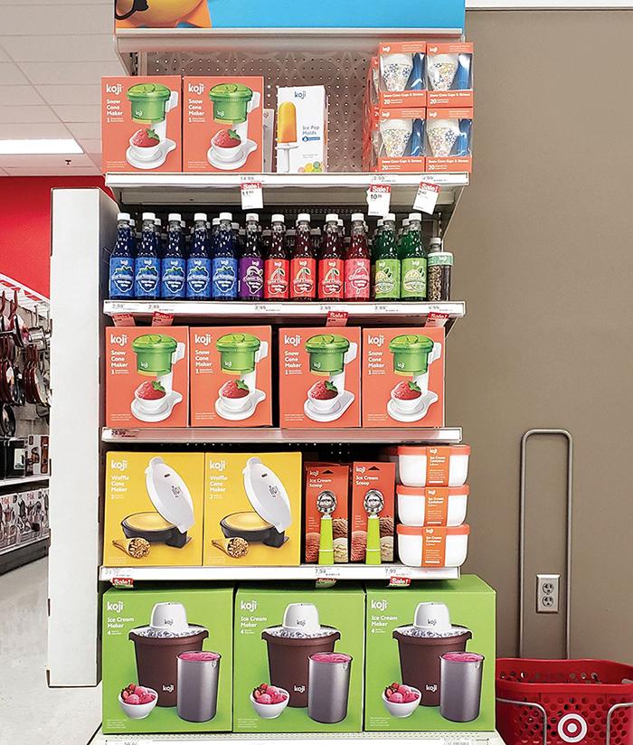Designed entire Koji summer endcap display for Target, including over 12 products