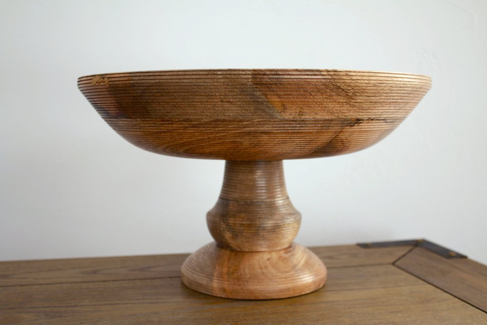 Footed Wooden Bowls