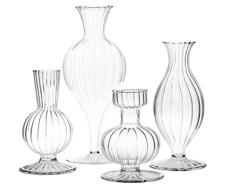 Cut glass Budvases