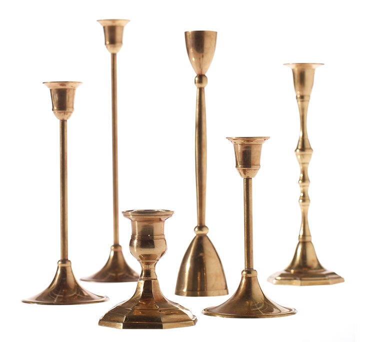 Gold Taper Candlesticks