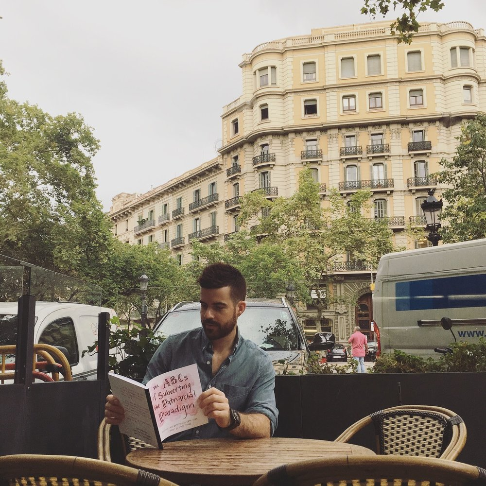 Reader Mark Hendrickson subverting the patriarchy in Barcelona