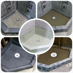 Waterproofing of a custom shower pan
