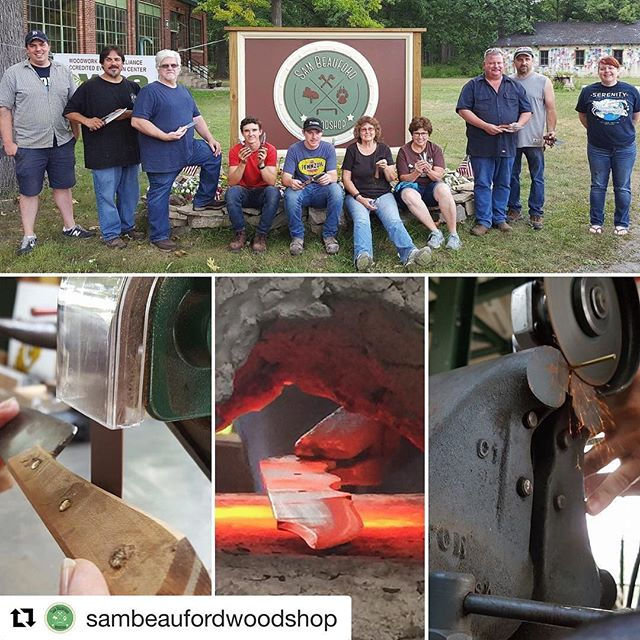 #Repost @sambeaufordwoodshop (@get_repost) ・・・ 🔥 Check out these images from the Aug knife-making class 🔪#metalworking #ninja #sensei #chopchop #knifemaking #forged #woodshop #talentedstudents #wow #lenaweecounty #puremichigan #hothothot #feelthefire