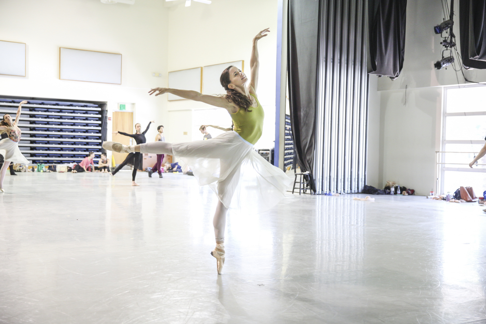 MIAMI CITY BALLET DANCER EMILY BROMBERG REHEARSING A MIDSUMMER NIGHT'S DREAM | PHOTOGRAPH BY DANIEL AZOULAY