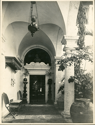 Historical images of villa vizcaya that portray lost spaces.