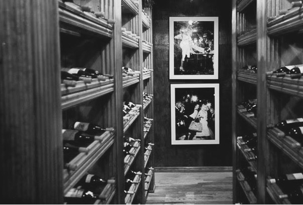 TOURING THE RESTAURANT'S WINE CELLAR WITH WINE DIRECTOR AND SOMMELIER GINO SANTANGELO