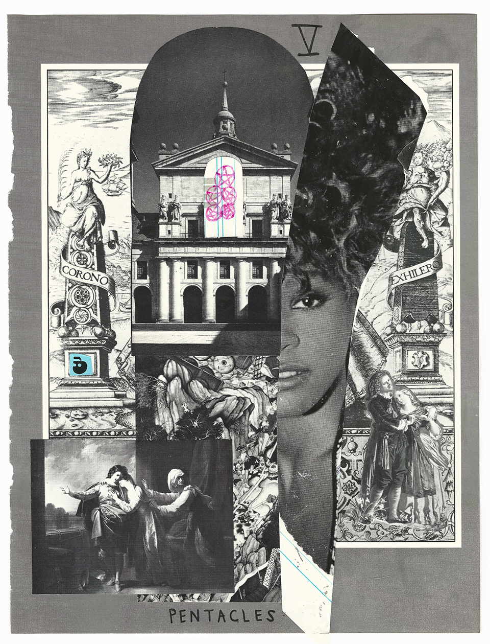 the artist recreates the tarot with collage