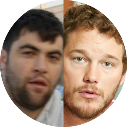 On the left:  Me  On the right:  Chris Pratt  The skinny:  I'd put on a little bit of weight back in 2009. Living in Germany and eating nothing but Schnitzel will do that to a guy. But, when NBC executives needed a bigger guy to play the role of the dufus on a promising new comedy, Parks and Recreation, they neglected me and went with Chris Pratt. Those jerks. But, yeah...Chris is cool. So, no worries. I'm also all buff now, too. Just like him.