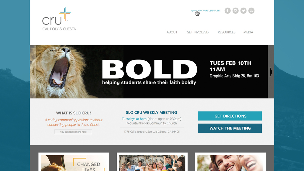 Website designed for Slo Cru