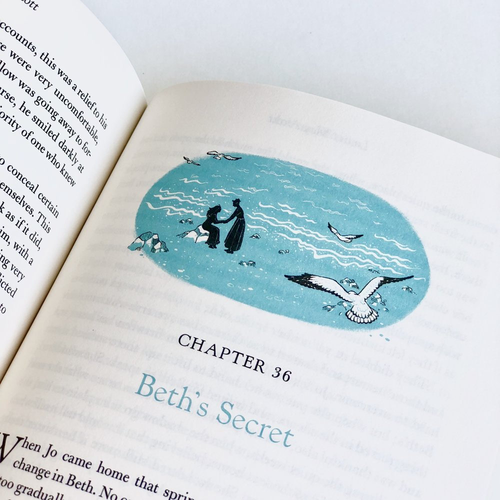 The beginning of every chapter features a turquoise-toned illustration by Shreya Gupta.