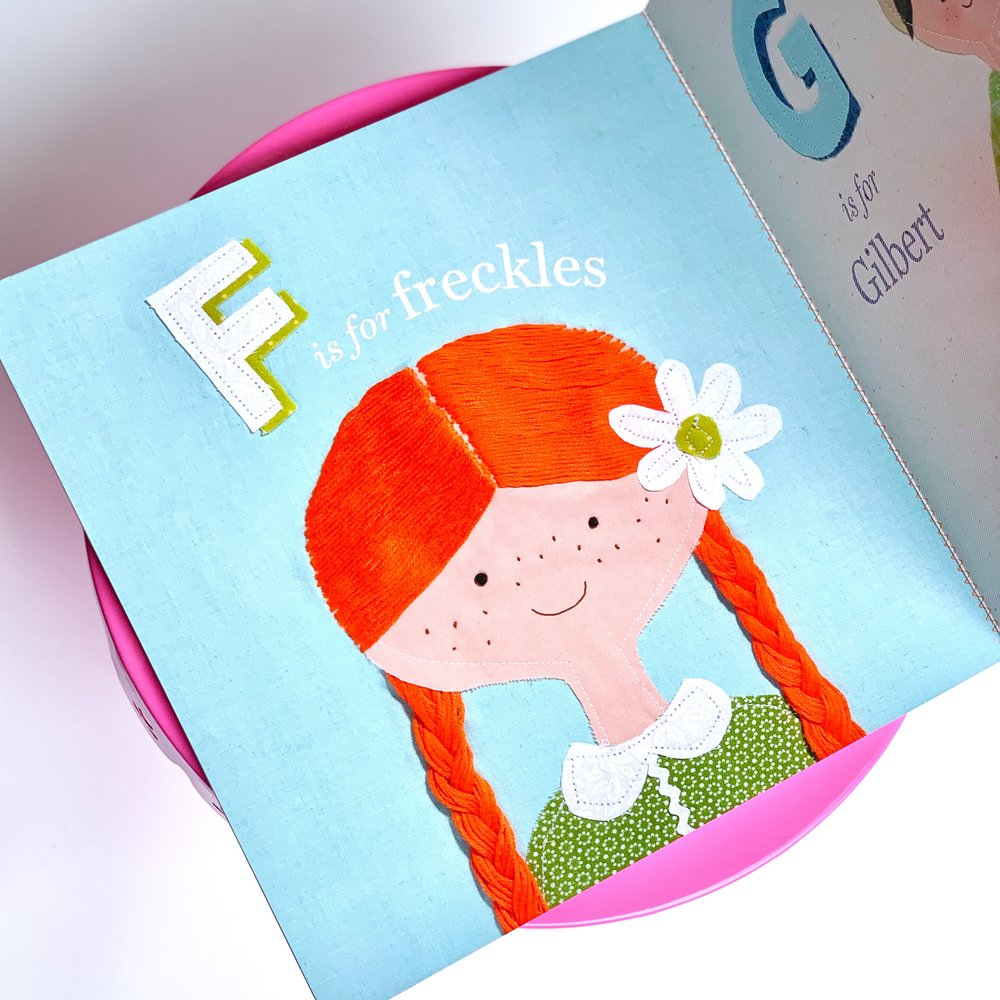 In  Anne's Alphabet , each page features a letter of the alphabet accompanied by an adorable illustration.