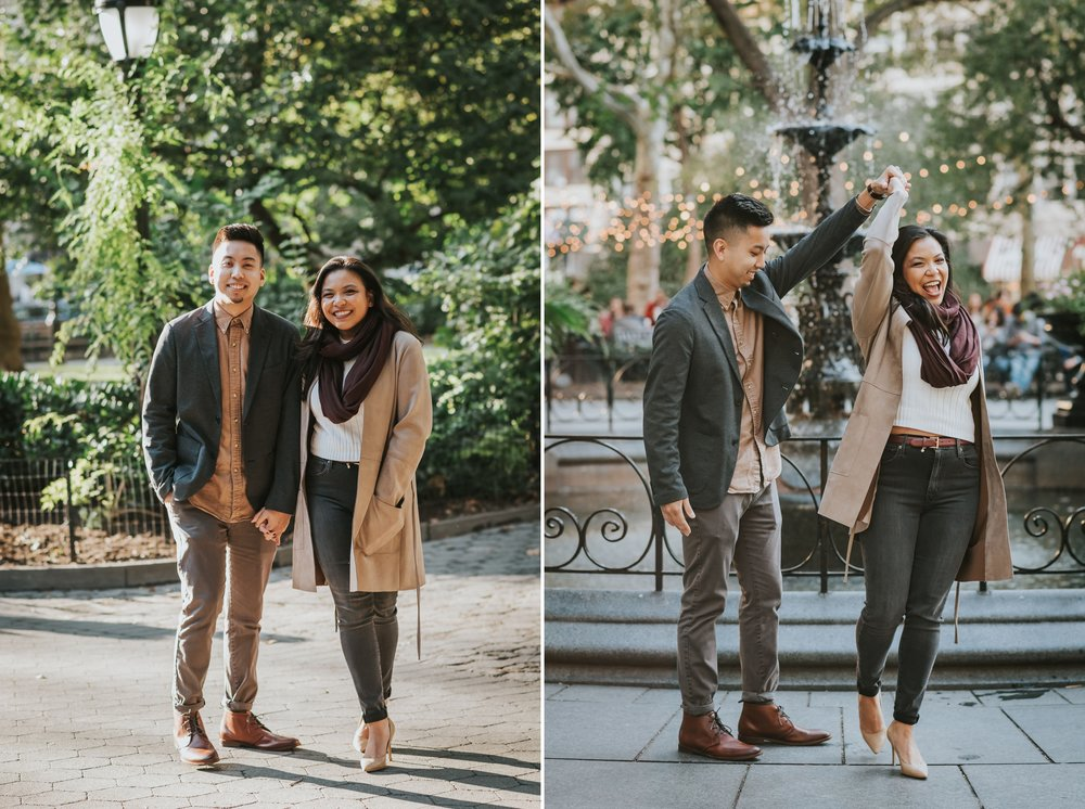 Sheena and Brian Madison Square Park Engagement NYC 01.jpg