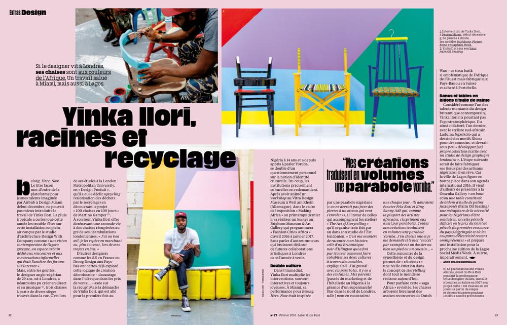 Next Liberation Magazine - January 2016    Lifestyle & product photography for Yinka Ilori