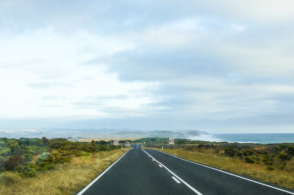 Driving on the road to destination unknown - Great Ocean Road