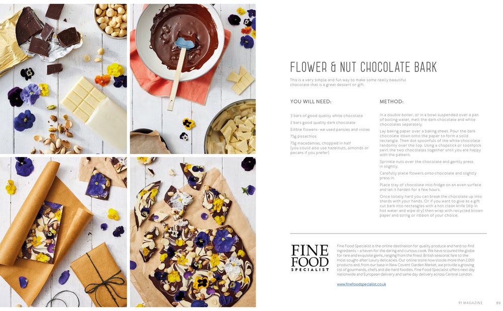 91 Magazine - Three Ways With Edible Flowers