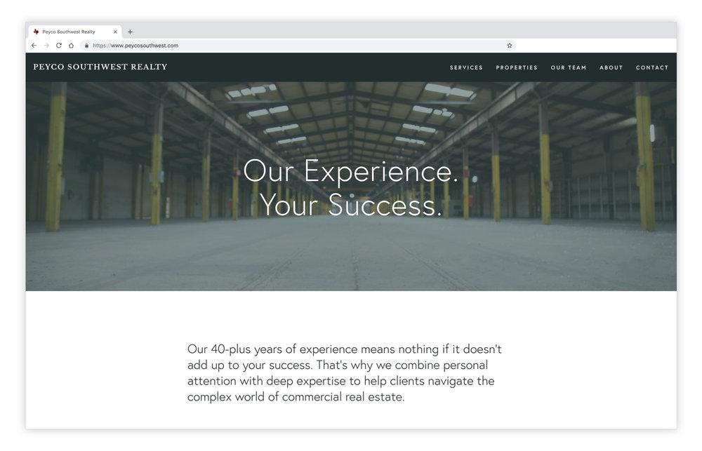 Peyco Southwest Realty  - Branding & Website