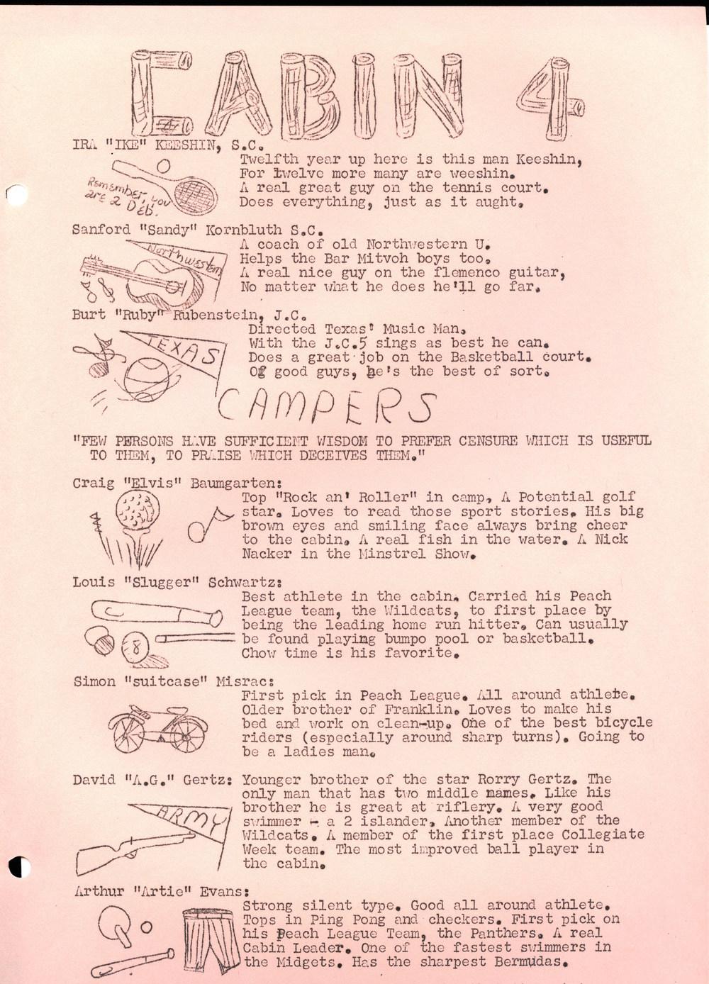 1959 Warrior Camp Ojibwa History Project