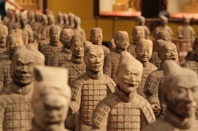 Inside, we are all different faced Terracotta Warriors... from Ancient China.