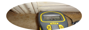 Using MOISTURE to confirm MOISTURE in SUSPICIOUS areas of the home for the most ACCURATE information