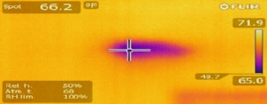 Hidden moisture found with infrared